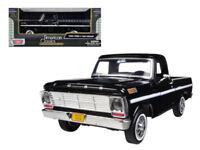 1/24 MOTORMAX 1969 Ford F-100 Pickup Truck Diecast Model Car Black 79315