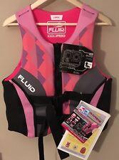 Fluid Aquatics PFD Women's M pink gray with camera mount