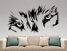 Wolf Wall Decal Animal Head Eyes Vinyl Sticker Art Bedroom Wildlife Decor 14wz