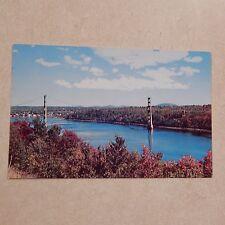 Vintage Postcard The Waldo-Hancock Bridge Spanning Penobscot River, Maine