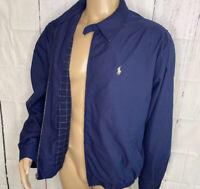 Vintage Polo Ralph Lauren Jacket Harrington Retro Retro 90s Plaid Lined XL Pony
