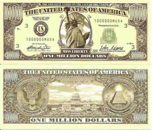 Million Billion Trillion Zillion American Dollar Bills Set of 8 Eagle Liberty