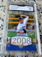 CLAYTON KERSHAW 2008 Upper Deck #1 Draft Pick Rookie Card RC GEM MINT 10 HOT $$$