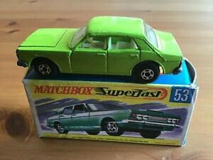 MATCHBOX SUPERFAST 53 FORD ZODIAC LIME GREEN ORIGINAL AND BOXED