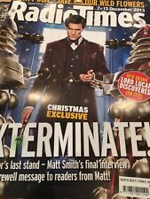 Radio Times Doctor Who 2013 Christmas Special Preview Cover Matt Smith Final
