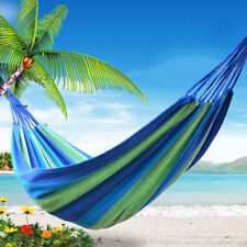 200KG Double Cotton Fabric Hammock Air Chair Hanging Swinging Camping 280*150CM