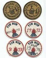 (6) Central Florida Area Council Vintage Felt Rounds - Early 1970s Era - Pow Wow