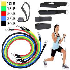 11 PCS/Set Yoga Pilates Resistance Bands Exercise Fitness Tube Workout Bands US