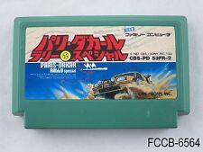 Paris-Dakar Rally Special Famicom Japanese Import FC NES Japan US Seller B/Good