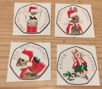 Peter Rabbit Beatrix Potter Christmas 2018 50p Sticker Decals Xmas GIFT