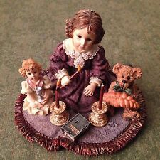 Retired Boyds Dollstone Resin Rachael/ Barbara/Matthew Sabbath Lights 2E 1998New