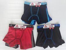 Reebok 3 Pack Boys' Stretch Performance Boxer Briefs (S, M, L, XL)