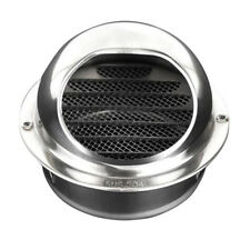 Stainless Steel Round Bull Nosed External Extractor Wall Vent Outlet 8cm