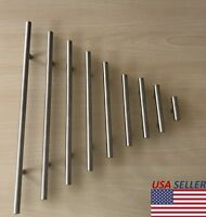 """Stainless Steel Brushed Nickel Kitchen Cabinet Handle T Bar Pull Hardware 2""""-16"""""""