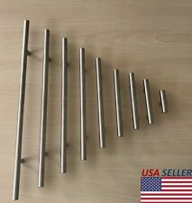 Stainless Steel Brushed Nickel Kitchen Cabinet Handle T Bar Pull Hardware  ...