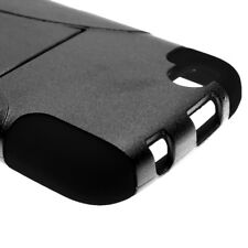 For BLU Life Play L100 Black BLack Case Hybrid Stand Heavy Duty Hard Cover