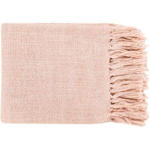 Tilda by Surya Throw Blanket, Pale Pink - TID006-5951
