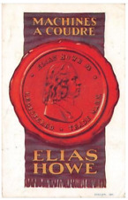 CPA PUBLICITE MACHINES A COUDRE ELIAS HOWE