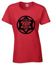 Darth Maul Inspirado Mujer Camiseta Estrella Soldado Jedi Wars