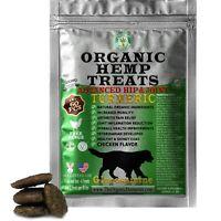 Organic Hemp Treats for Dogs Turmeric & Glucosamine, Chicken Flvr, 60 Soft Chews