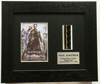 THE MATRIX - KEANU REEVES reproduction signed Original Filmcell Memorabilia