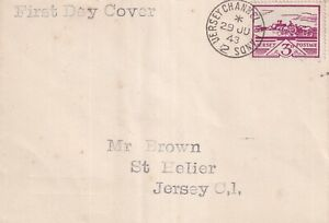 JERSEY WARTIME 29 JUNE 1943 3d SCENES FIRST DAY COVER