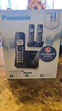 Panasonic Kx-Tgd513B Expandable Cordless Phone with Call Block, 3 Handsets - Bl…