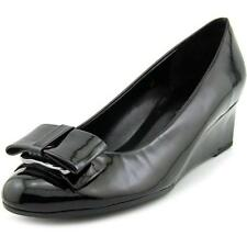 Zapatos de tacón de mujer de tacón medio (2,5-7,5 cm) de color principal negro sintético