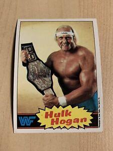 1985 Topps Wresting Stars Hulk Hogan #1 - 1st Topps Hulk Hogan Card Rookie RC