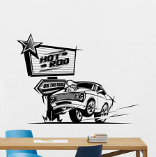Hot Rod Wall Decal Muscle Racing Car Off Road Vinyl Sticker Decor Mural 41thn