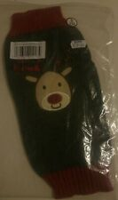 tartan antler deer christmas dog jumper size small