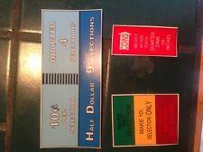 JUKEBOX SEEBURG 220 COIN AND INSTRUCTION PLASTICS 3 PLASTICS TOTAL