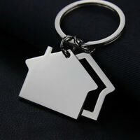 EE_ Creative-Cabin Small House Key Ring Keyring Keychain Pendant Gift