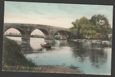 Postcard Wimborne Minster near Poole Dorset early view of Canford Bridge