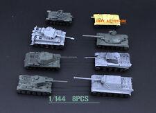 Battlefield 1/144 8PCS LEOPARD2A5 PANZER M42 JagdTiger AMX-30 T34/85 TANKS