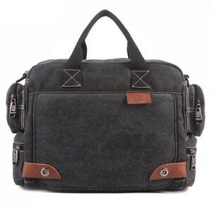 Men Canvas Business Bags Casual Tote Bag men Travel vintage Solid Handbag