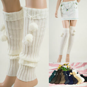 Women  LEG WARMERS Winter Warm Knit Crochet  Boot Socks L1004