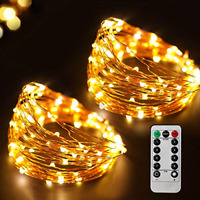Best 66 Ft 200 LED 8 Mode Christmas Fairy Lights Battery Operated With Remote
