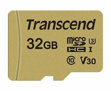 Transcend Micro SD 32 GB 500S Class 10 U3 Flash Speicherkarte Neu sm GR