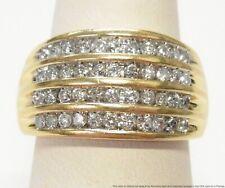 Row Channel Set Ultra Wide Band Sz 7.25 New ListingVintage 1.50ctw Diamond 14k Gold Ring 4