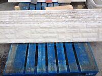 6ft x 1ft Rock or Plain Reinforced Concrete Gravel Boards and Concrete Posts