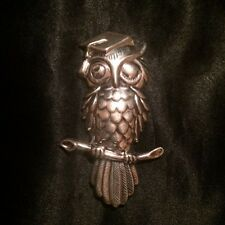 New listing Vintage Silver Owl Brooch. Signed Beau.