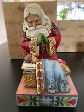 "Enesco Jim Shore Santa ""The Real Meaning of Christmas"""