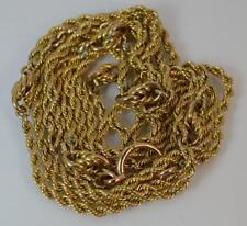 "Victorian 41"" Long 9ct Gold Guard / Muff Pocket Watch Chain"