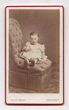 PHOTO CDV Carte de visite Enfant Poupée Doll BUSIN FRÈRES DRAGUIGNAN Vers 1880