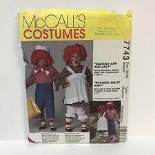 Uncut McCall's Costumes Pattern 7743 Miss Men Raggedy Ann Andy Size 36 38 Medium