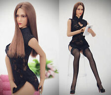 """1:6 Scale Black Cheongsam Female 12"""" Action Figure Accessories Clothing Sets"""