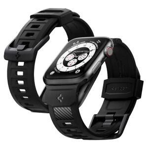 Apple Watch Series 7 6 SE 5 4 3 2 1  | Spigen Rugged Band Matte Black Watch Band