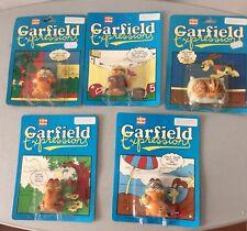 1978# vintage DAIKIN 5x GARFIELD EXPRESSIONS  Fun Farm Series#MOSC CARDED