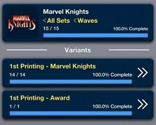 Topps Marvel Collect: Marvel Knights 1st Printing Set W/Award Digital